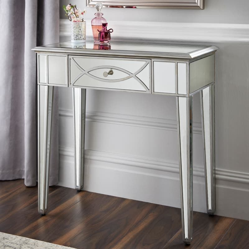 Grace Mirrored Console Table Furniture B M Stores Mirrored Console Table Mirror Console Console Table