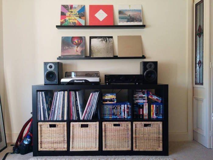 Meuble Vinyle Turntable Setup Meuble Vinyle Stockage De