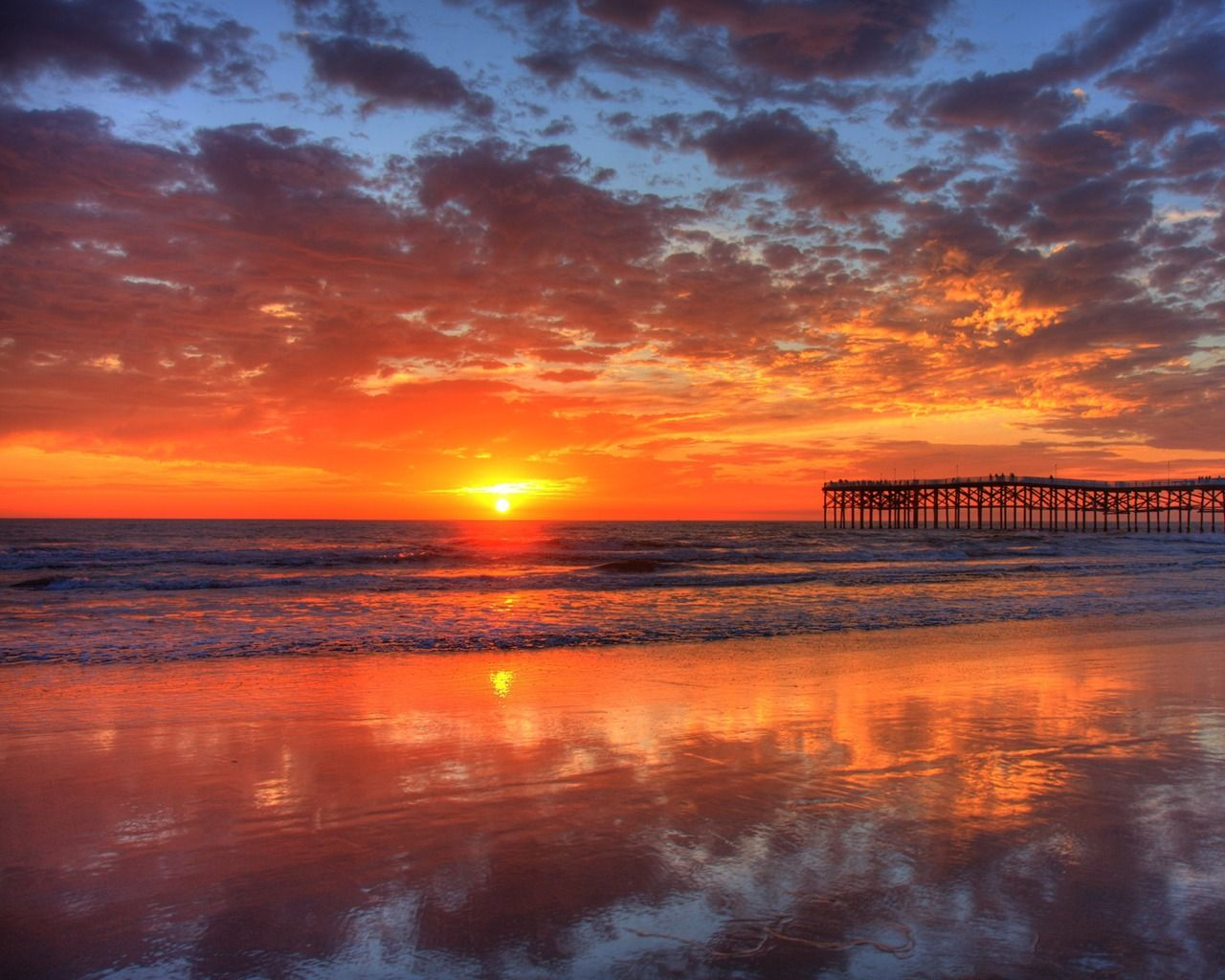 Pacific Beach Sunset Wallpaper Pacific Beach California