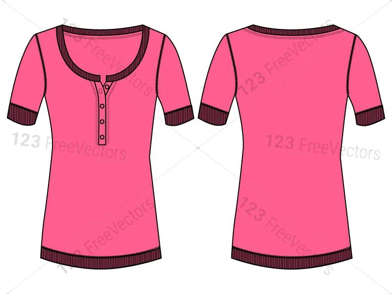 Download Women S Basic T Shirt Template Vector And Psd Pack 01 Shirt Template Basic Tshirt Blank T Shirts