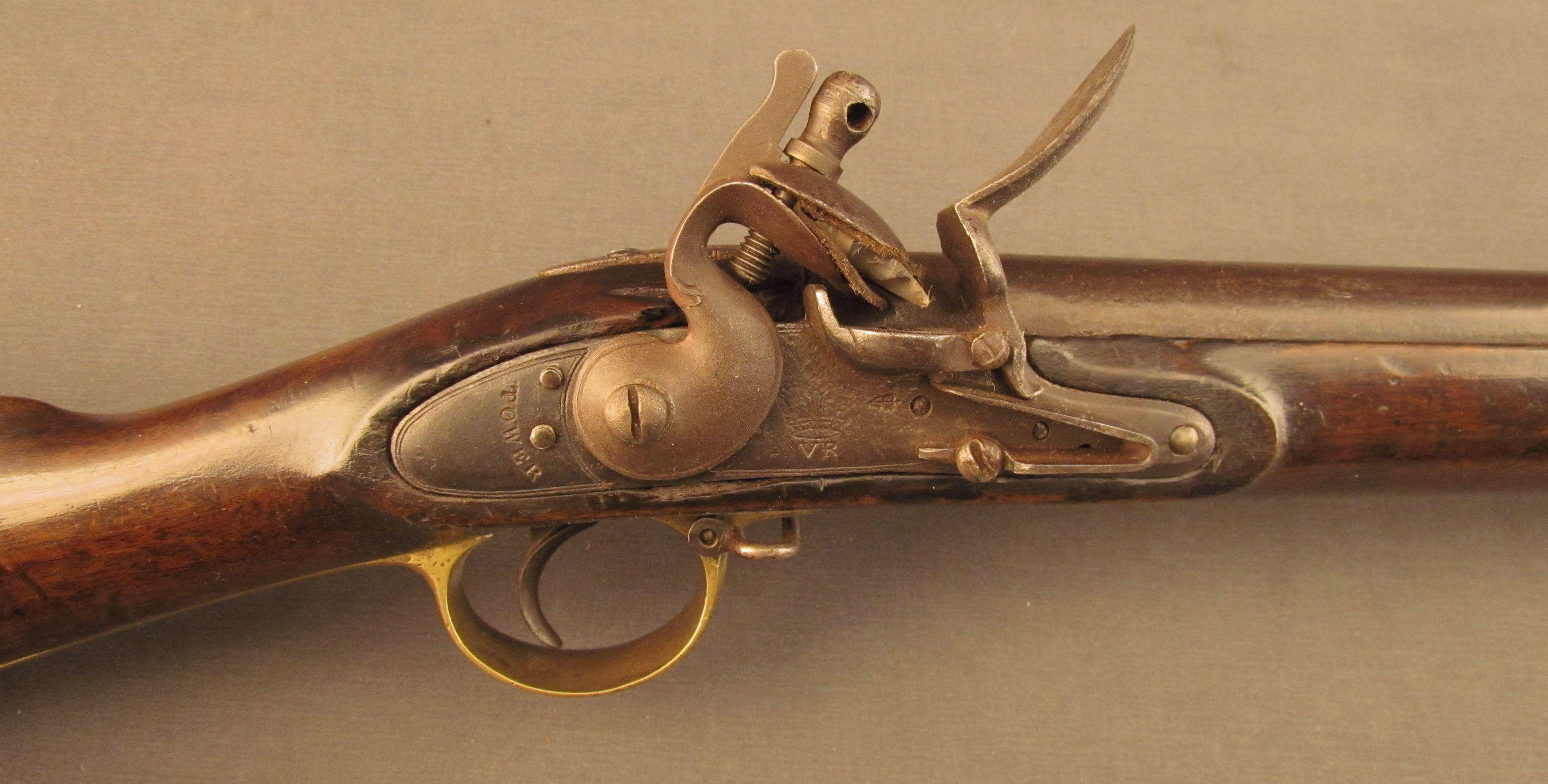 Reproduction 2nd Model Brown Bess Flintlock Lock Vintage Hunting