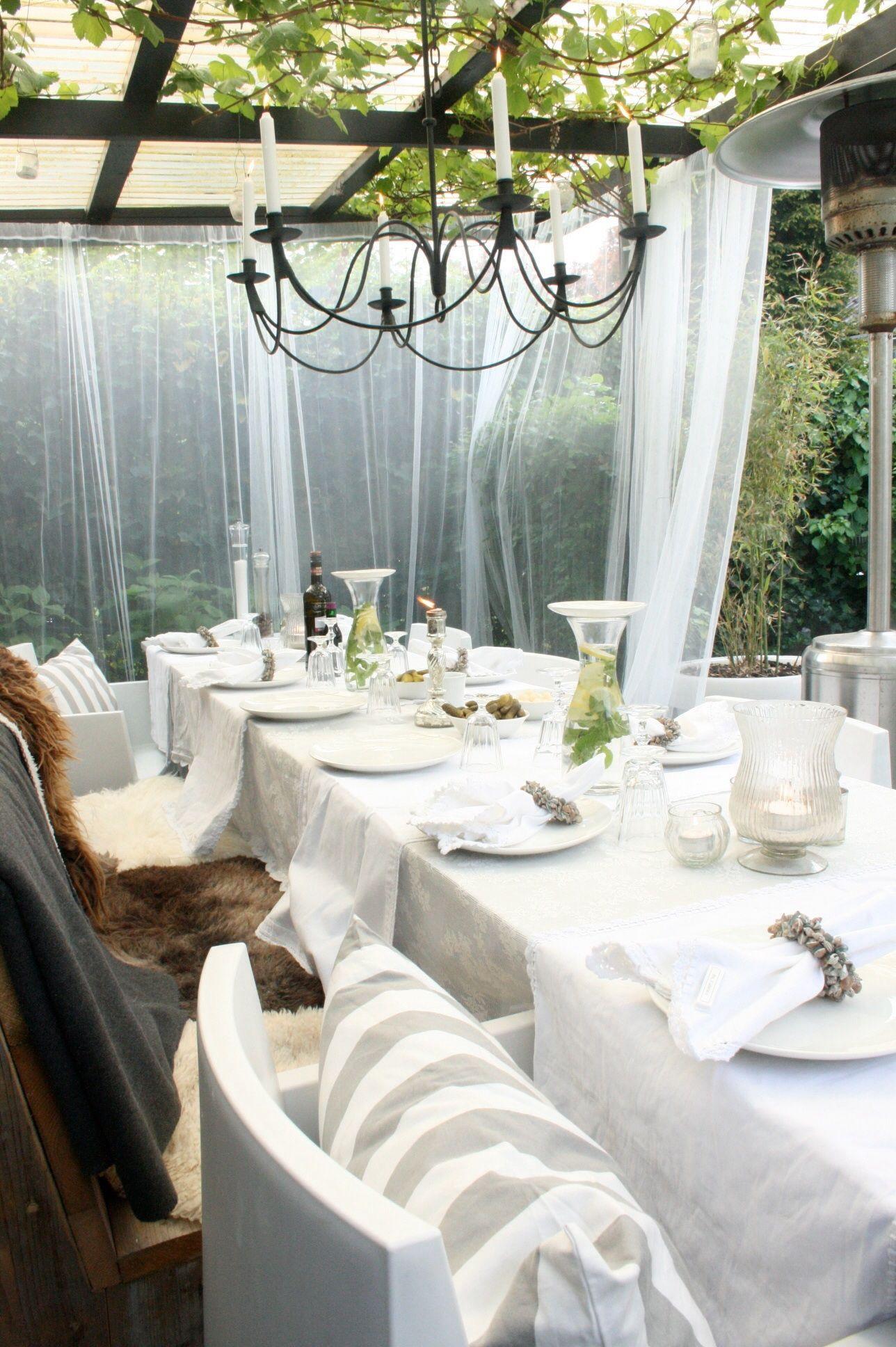 Buiten (kant en klaar) gordijnen vliegengaas ikea | Tuin | Pinterest