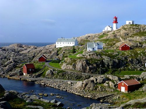 images of lighthouses of Sweden and Norway | Lindesnes Fyr (The lighthouse of Lindesnes), Norways southernmost tip