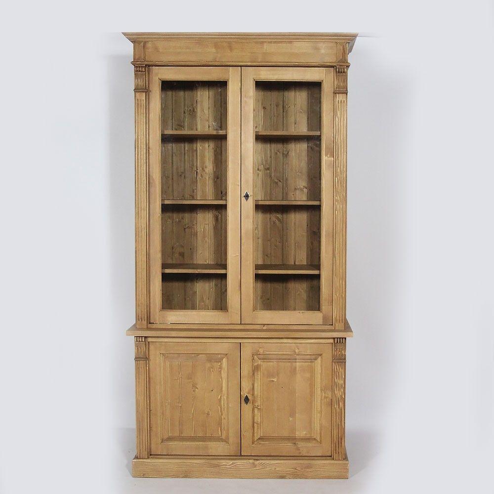 buffet vaisselier bois cir miel 4 portes buffet vaisselier vaisselier et structure en bois. Black Bedroom Furniture Sets. Home Design Ideas