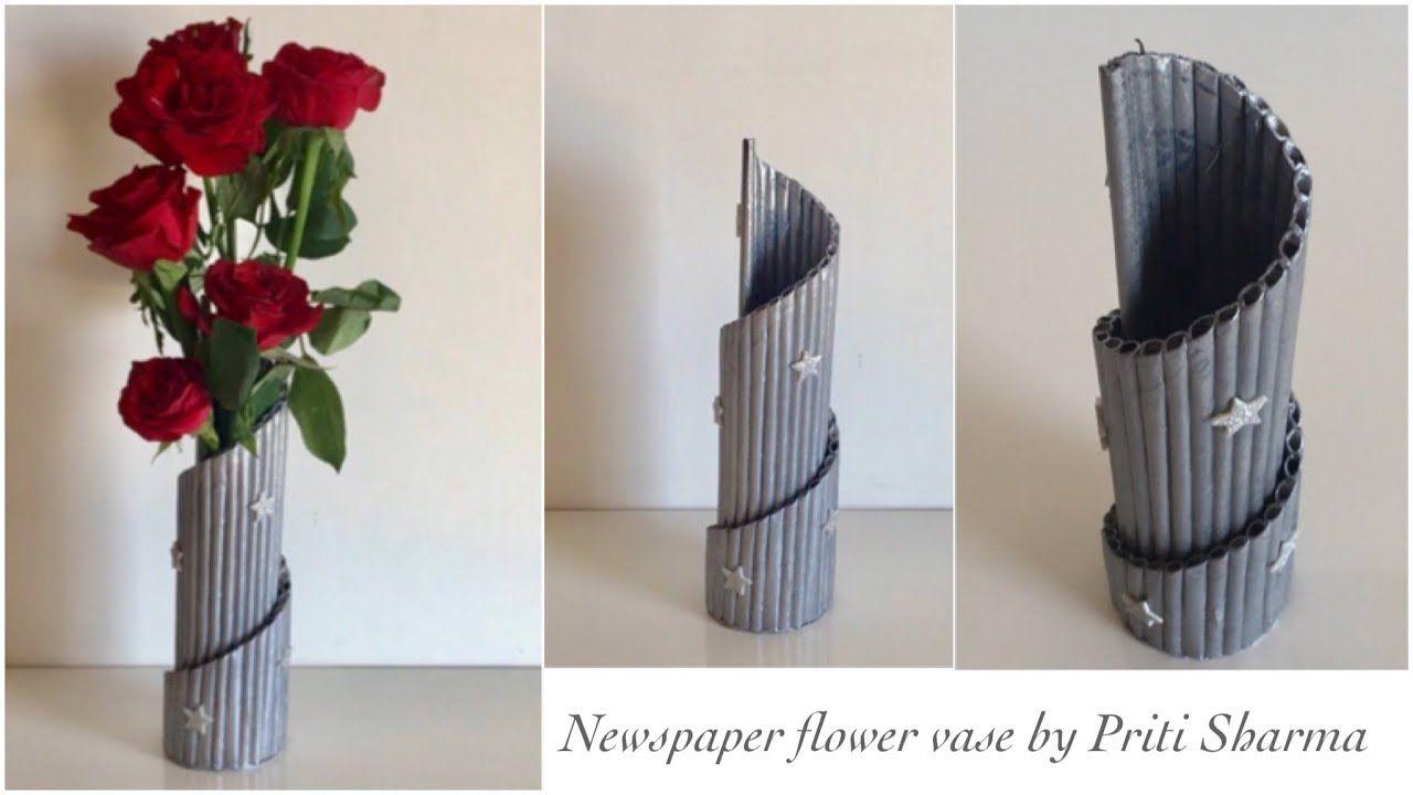 Newspaper Flower Vase Diy Newspaper Pen Holder Newspaper Crafts Best Flower Vase Diy Newspaper Crafts Diy Newspaper Crafts