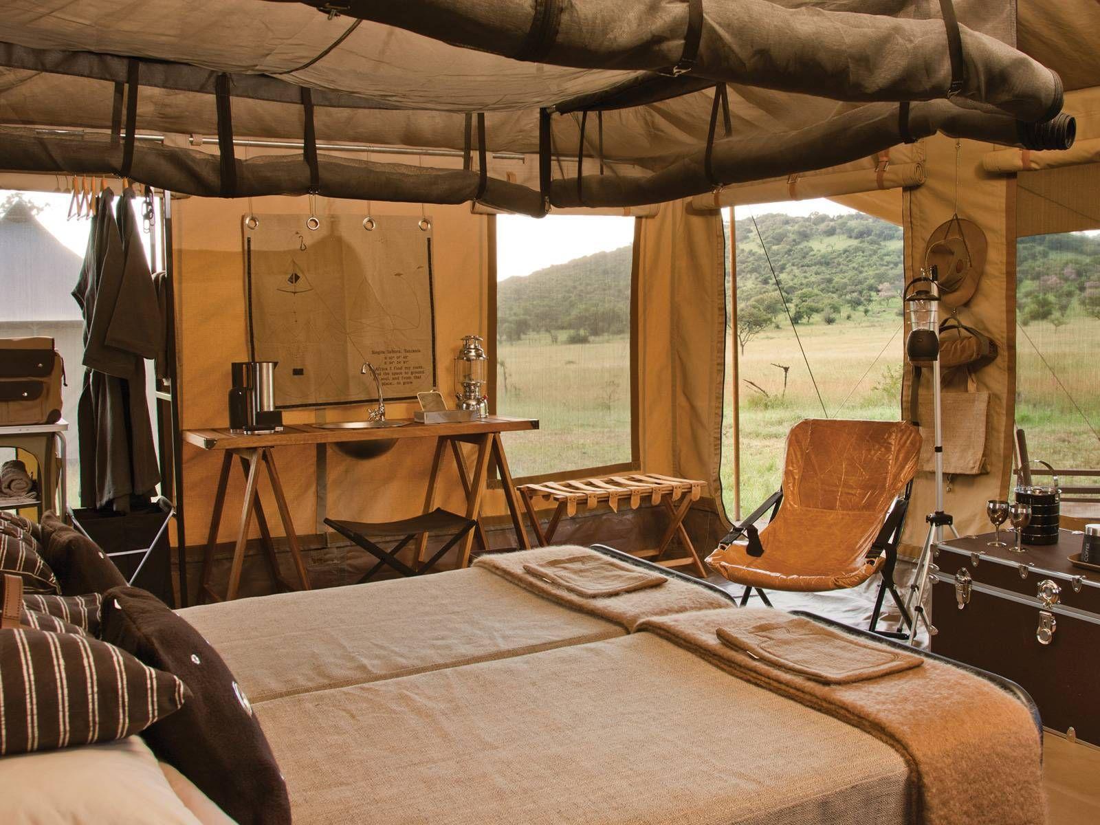 Atelier Voyage   Our favorite Safari: Mobile Tent, Singita