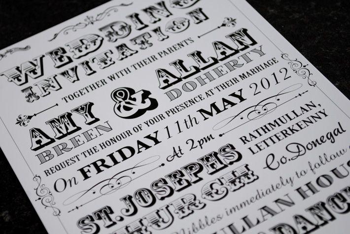 vintage+wedding+announcements Style Wedding Invitation