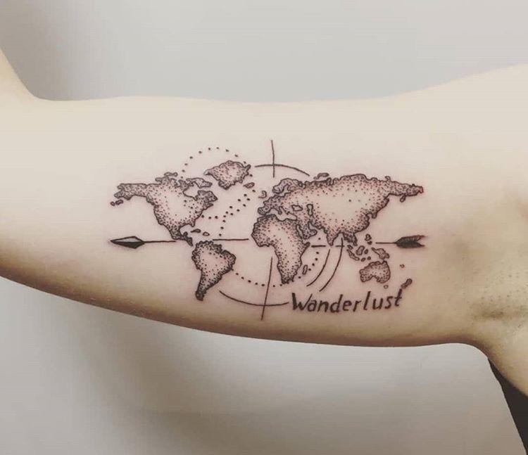 Tatuaje Mapa Del Mundo.Pin On Tattos
