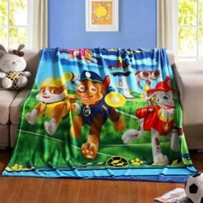 Free shipping 2m Paw patrol cotton terry blanket blue coral fleece blanket  High quality 08a533355
