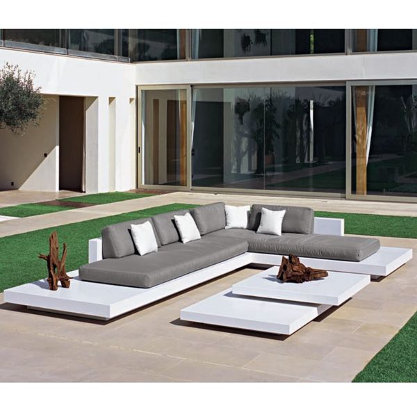 Comes In Lots Of Colors Platform 110 X 157 Outdoor Sectional Sofa Best Outdoor Furniture Modern Patio Furniture