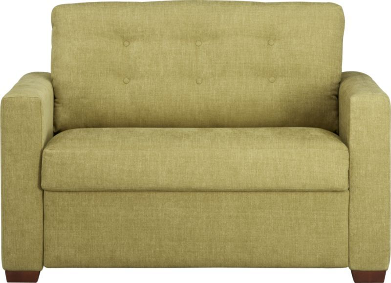 twin chair sleeper sofa classroom pockets allerton in sofas crate and barrel new