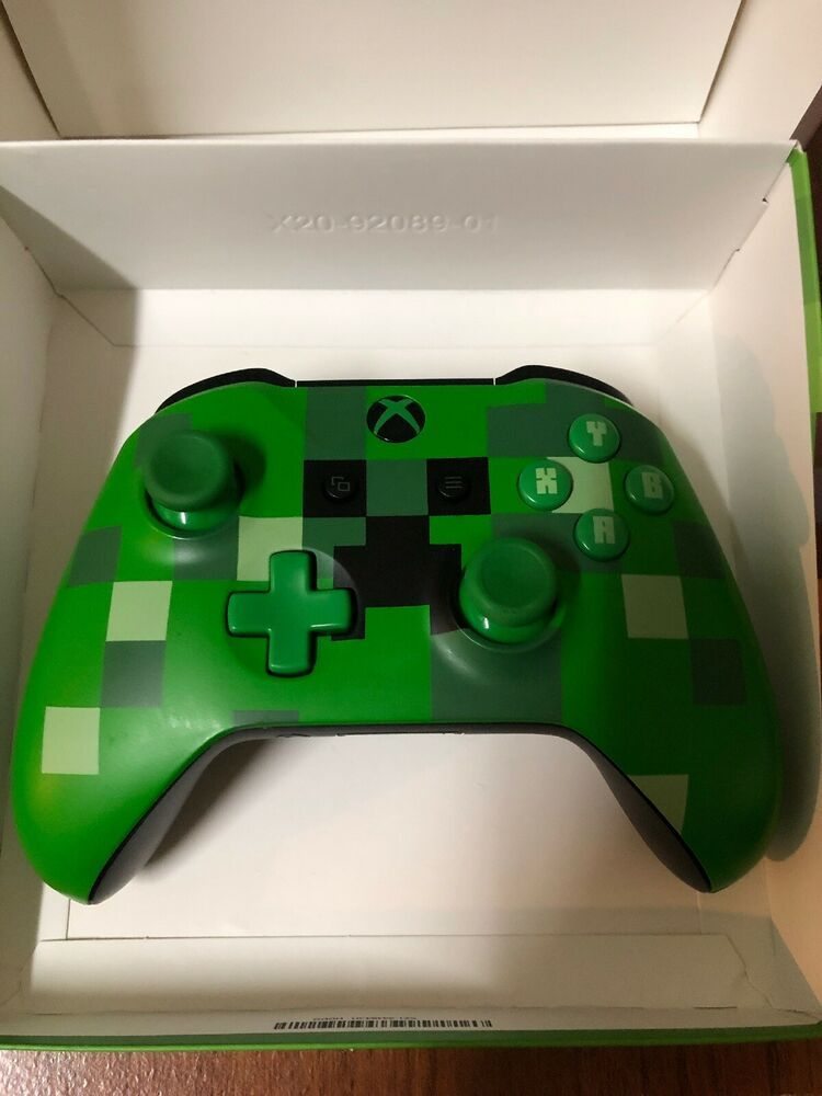 Microsoft Xbox Wl300056 Minecraft Creeper Green Controller Minecraft Playing Game How To Play Minecraft Xbox Wireless Controller