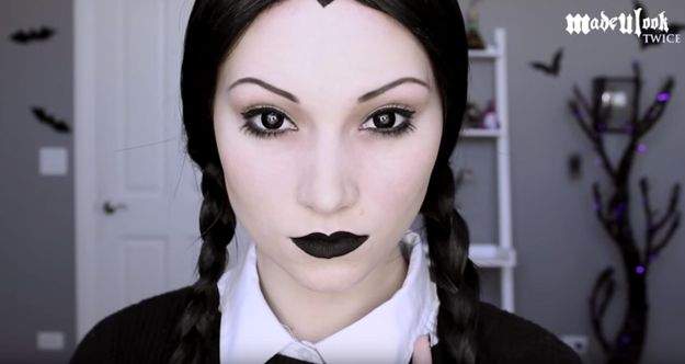 and youre done wednesday addams halloween makeup tutorial - Where Can I Get Halloween Makeup Done