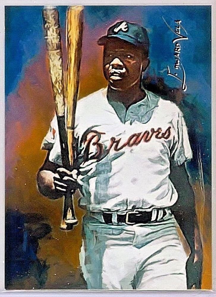Hank Aaron, Atl. Braves #28 Sketch Print Card Limited 1/25 Edward ...