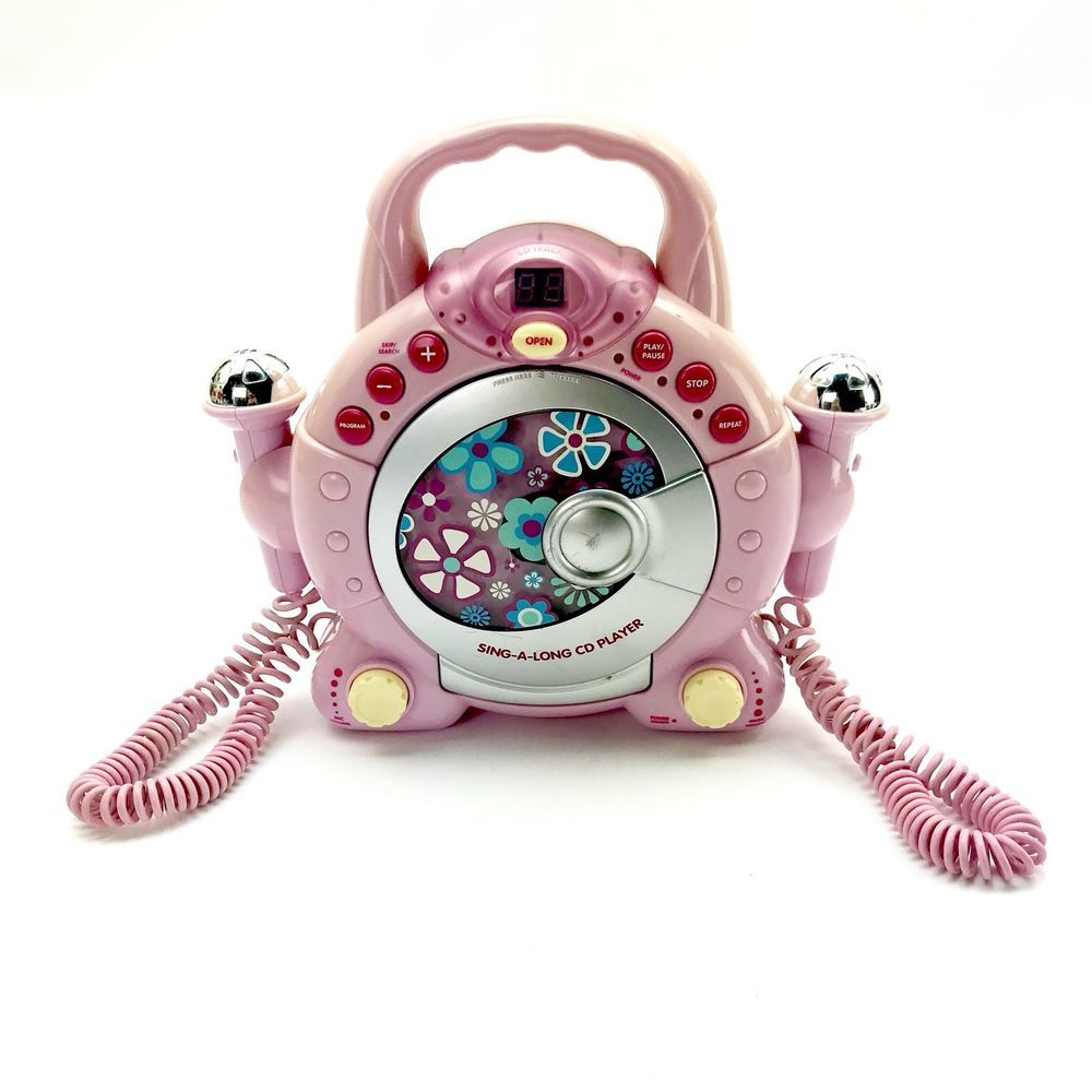 Elc Early Learning Centre Sing Along Cd Player Pink Nude Yellow