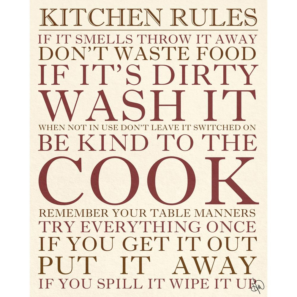 Creative Gallery 20 in. x 24 in. Kitchen Rules Barnwood Framed Wall Art Print KIT00235F2024BW #kitchenrules