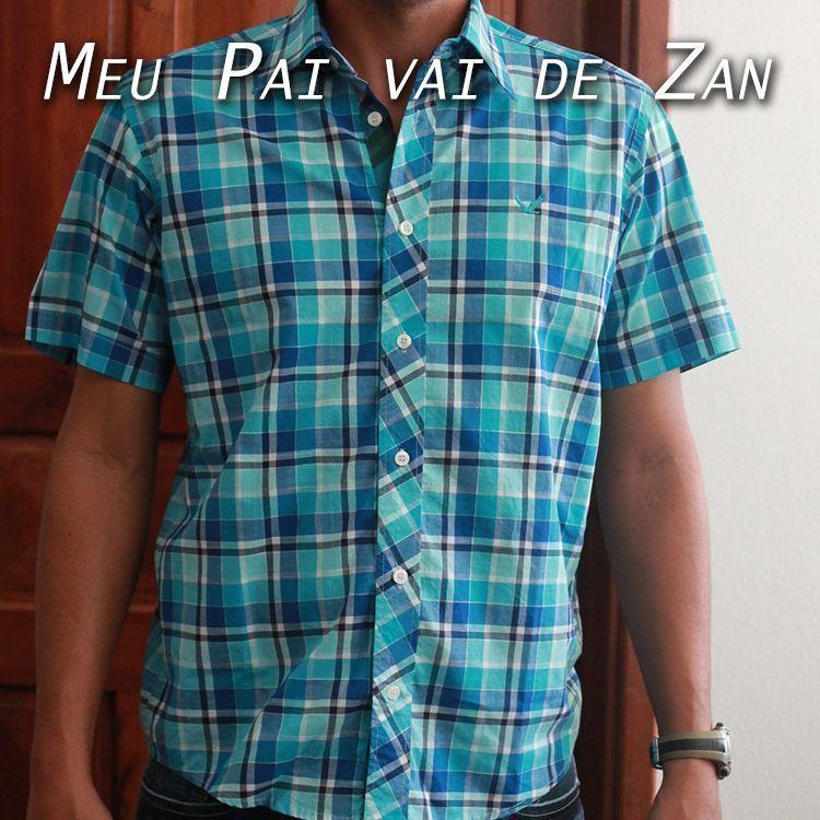 Camisa Azul Zan. #zanbrasil #zanfashion