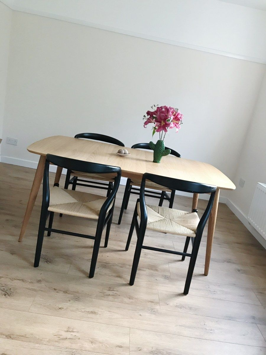 back to interiors deco black wooden chairs oak dining table rh pinterest com oak furniture land dorset dining table oak furniture land dining table and chairs