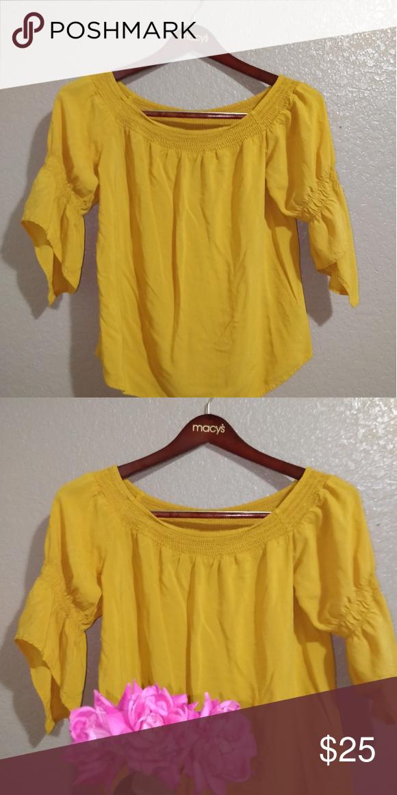 Yellow Dresses Blouses