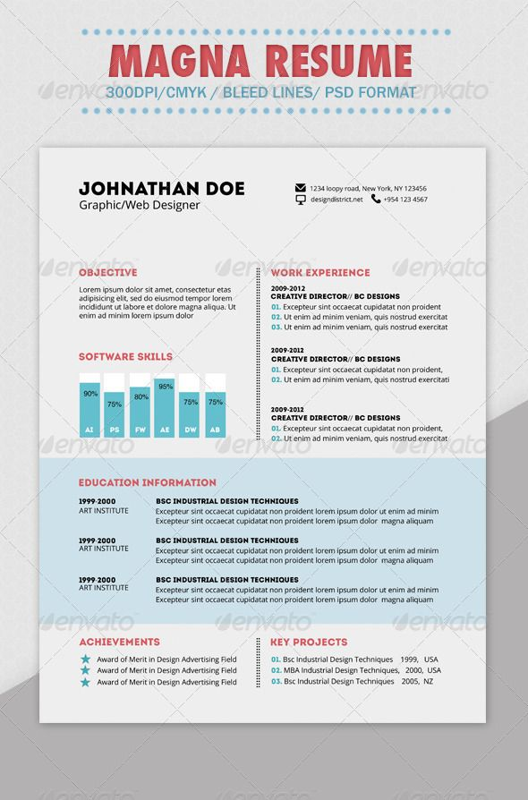Industrial Designer Resume Magna Resume — Photoshop Psd #sleek #creative  Available Here .