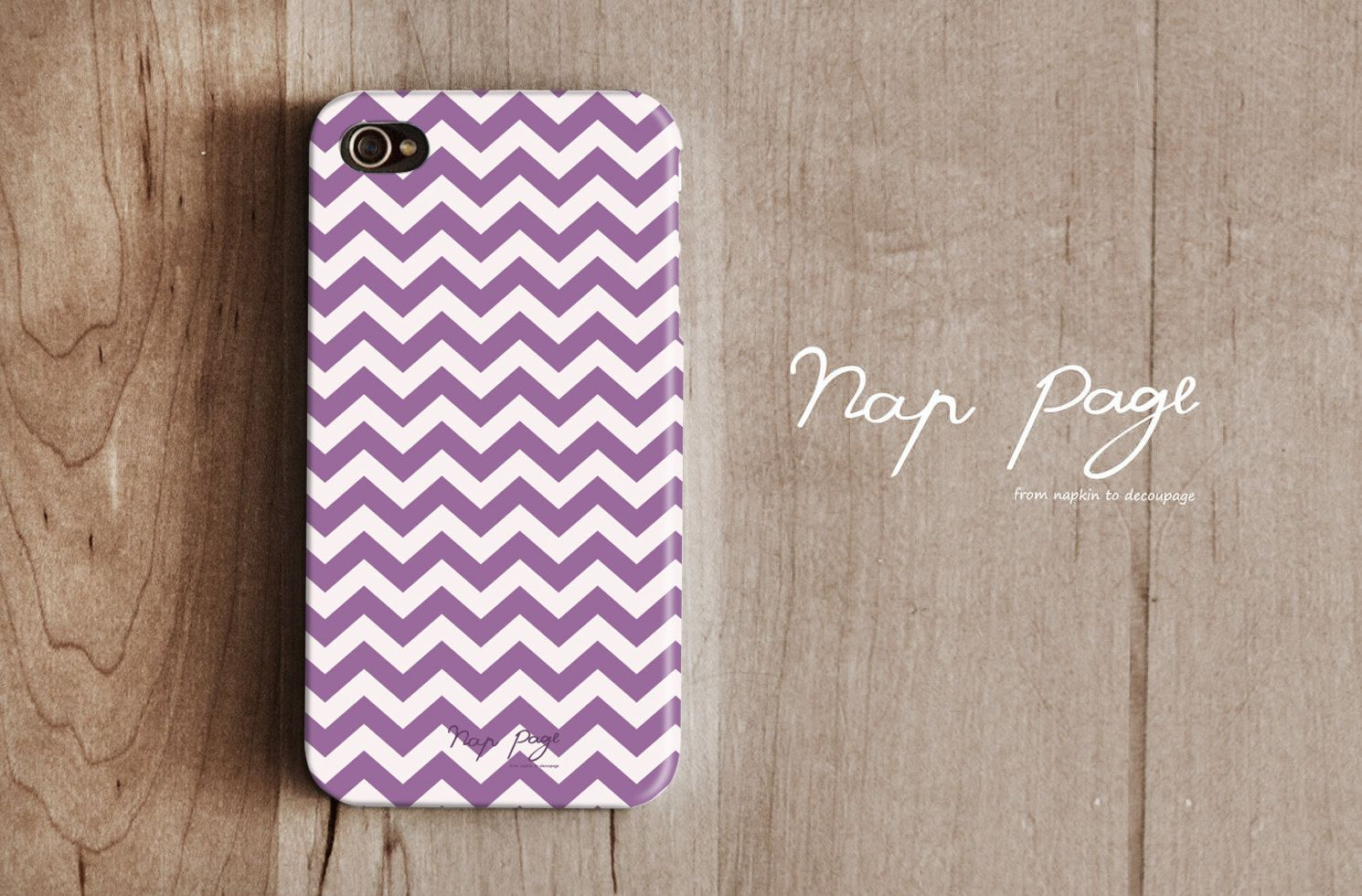 iphone 4 case , iphone 4s case , case for Iphone 4 Blackberry mobile Case handmade: Violet Chevron. $19.90, via Etsy.