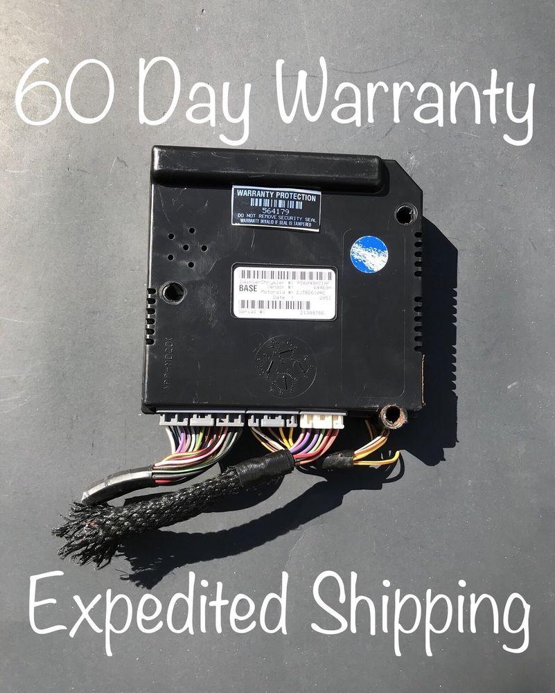 01 03 Dodge Dakota Central Timing Module P56049071af Ctm Alarm Bcm Unit Oem