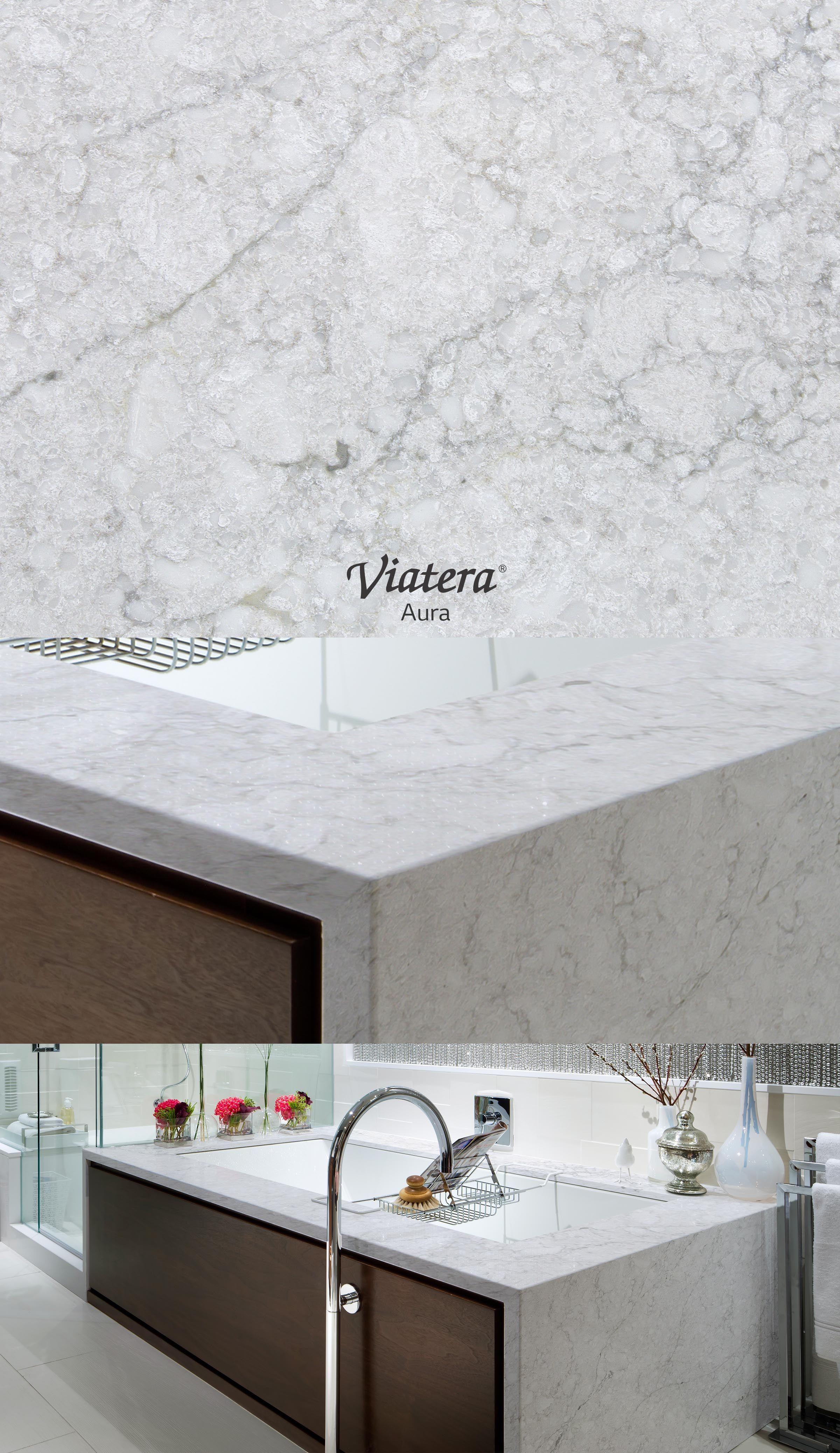 Viatera Aura L Quartz Countertop Grey Inspiration In