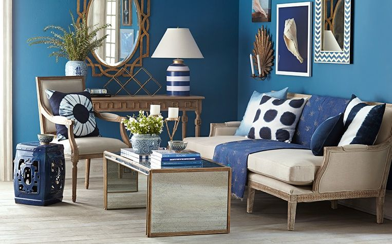navy  gold living room  wisteria  gold living room