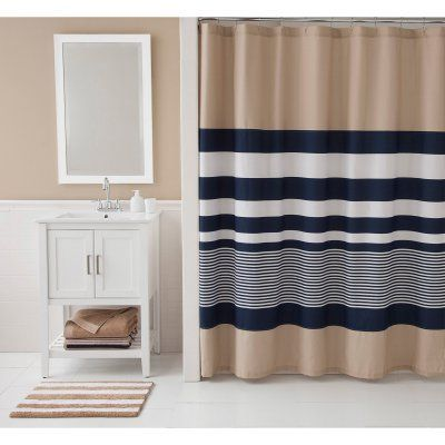 IZOD Classic Stripe Shower Curtain Set - WSPT628   Striped shower ...