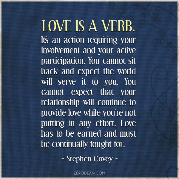 'Love is a verb'