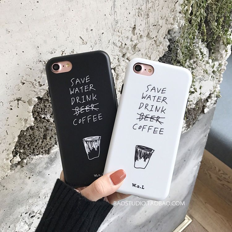 Korean Hand Painted Creative Couples Imd Tpu Case Cover For Iphone
