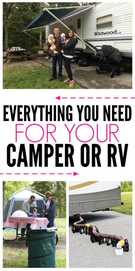 Everything You Need to Camp In A Camper or RV - Organization Obsessed #rvcamping