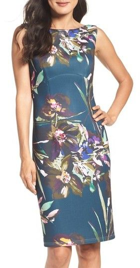 8b2bdf50 Ellen Tracy Women's Scuba Sheath Dress | Products | Dresses, Sheath ...