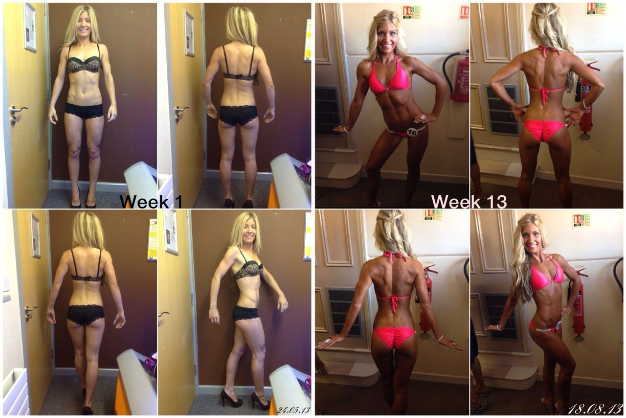 Client Vicky 13 week transformation for her first Bikini