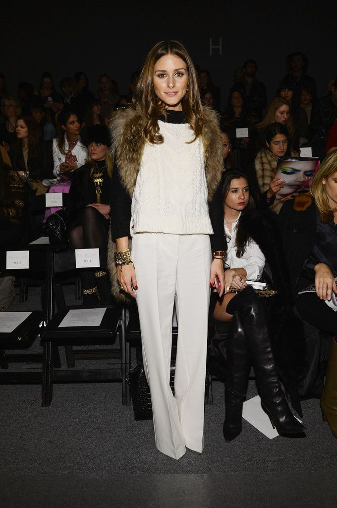 Olivia Palermo proves you don't have to wait until summer to debut your white trousers