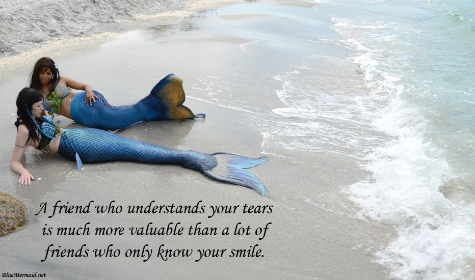 Friendship Meme With Mermaids On The Beach The Little Mermaid Your Smile Understanding Yourself