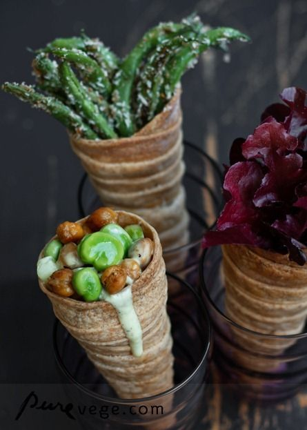 Cones With Roasted Chickpeas