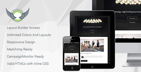 nice Prestige - Responsive Email Template with Builder Themes - change of address templates