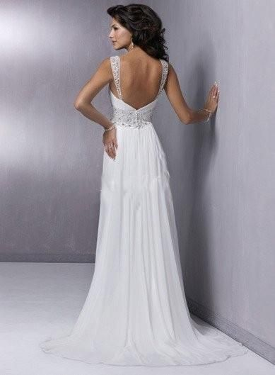 Grecian Chiffon Wedding Dress