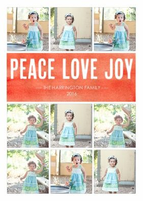 Snapfish Holiday Photo Cards: Peace Joy Love Watercolor By CPaperie