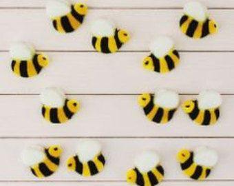 Bumble Bee Edible Sugar Decorations For By Annsbuttonandbows