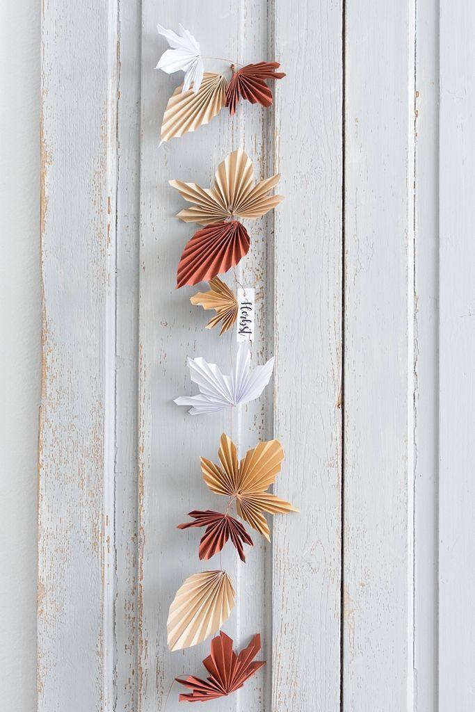 Photo of DIY | Herbstliche Blättergirlande aus Papier – Sinnenrausch – Der kreative DIY Blog für Wohnsinnige und Selbermacher