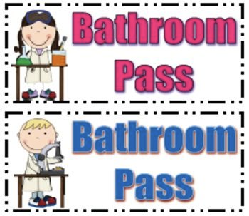 Clipart bathroom pass, Picture #2378627 clipart bathroom pass
