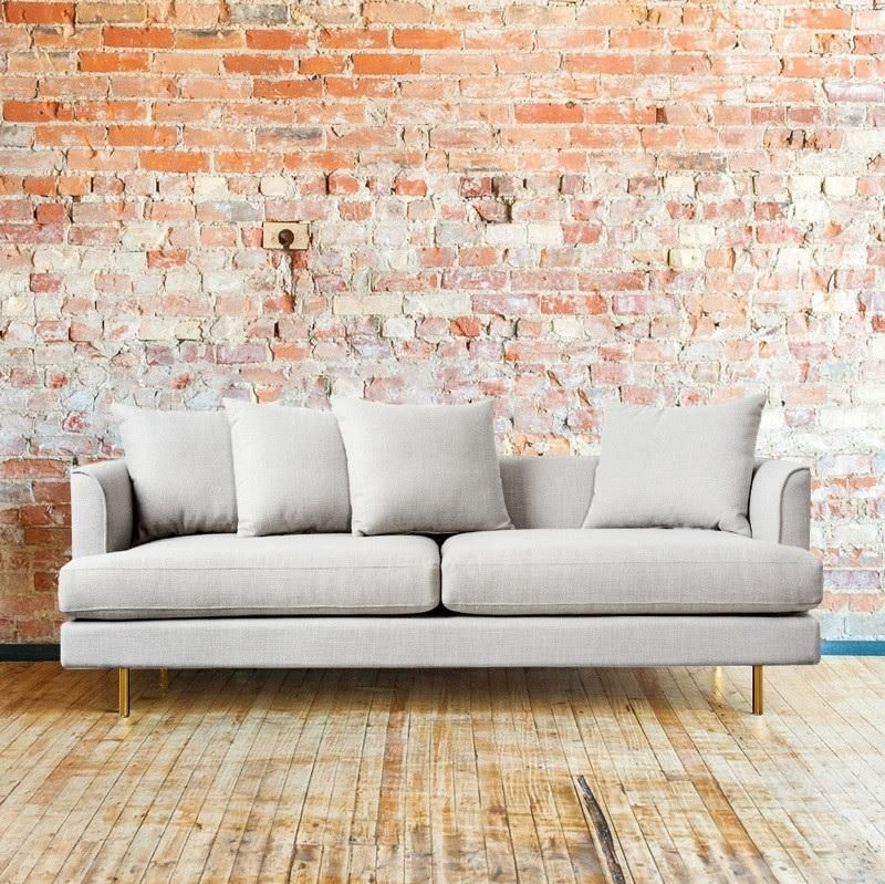 Gus* Margot 3 Seater Sofa In Oxford Quartz #globewest #furniture #sofa #