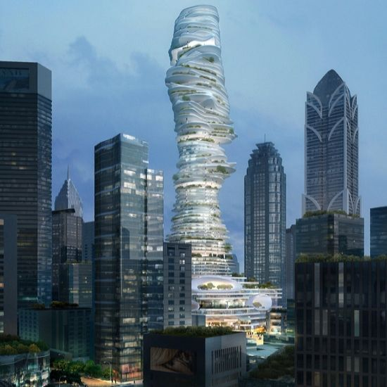 Urban forest sky scraper with gardens modeled by mad architects this skyscraper with gardens will be located in chonquing china