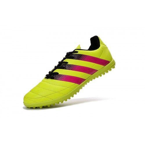 online store cec70 68a62 Bueno Adidas ACE 16.3 TF IC Amarillo Verde Zapatos De Soccer Tenis, Botas  De Fútbol