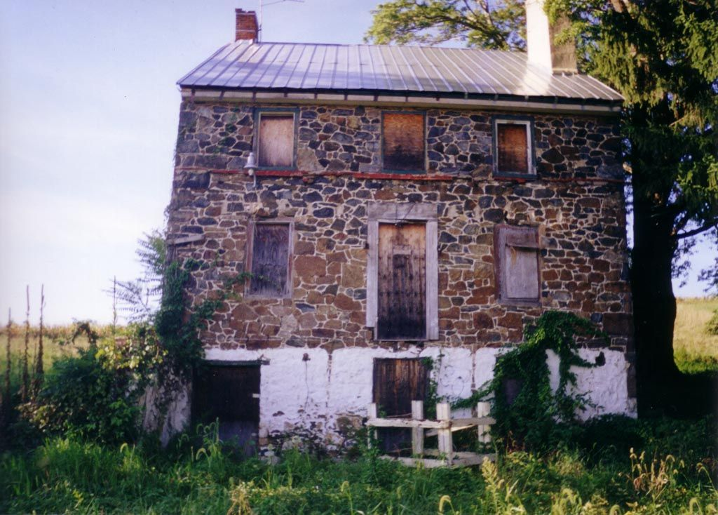 This abandoned farm house from the mid 1700's sits high up