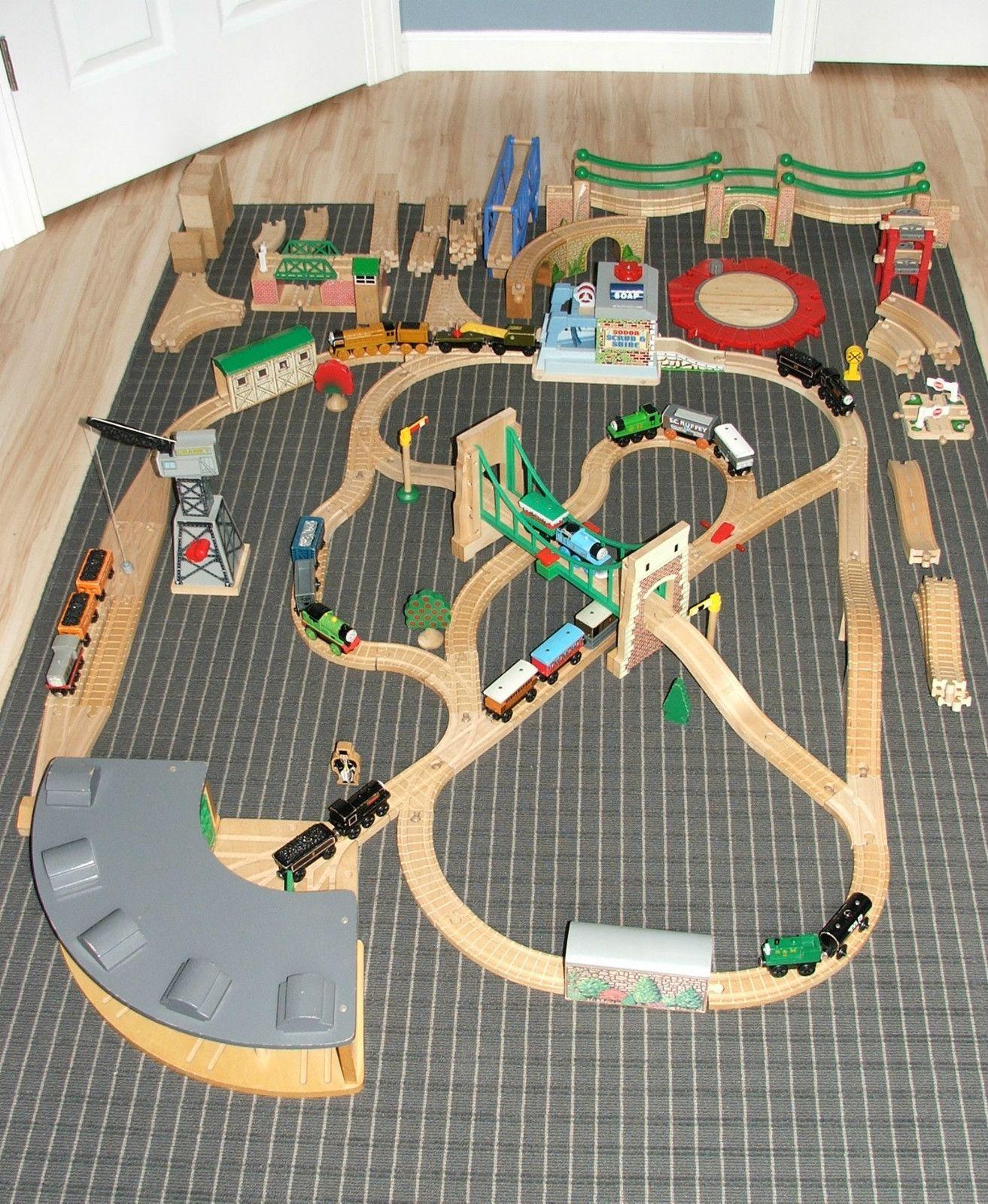 Huge Lot Thomas The Tank Engine Friends Wooden Trains Set Railway