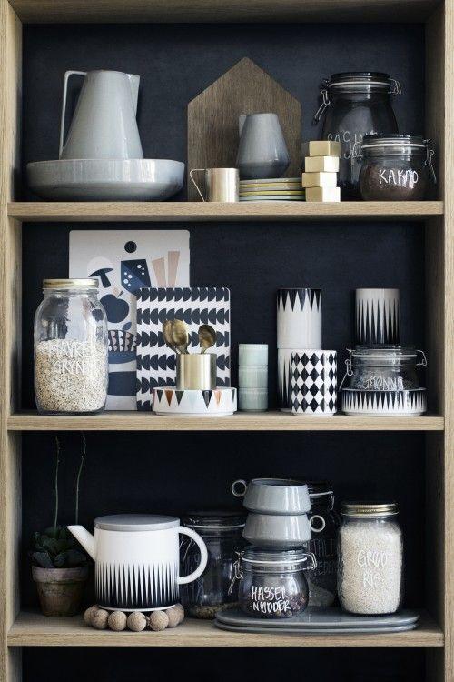 Offenes Regal in der Küche im scandi Look Geschirr Pinterest - kleine regale für küche