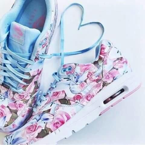 floral nike shoes tumblr white dress 945743